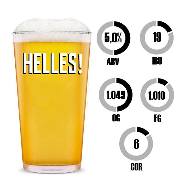 Kit Receita Cerveja Fácil Helles!