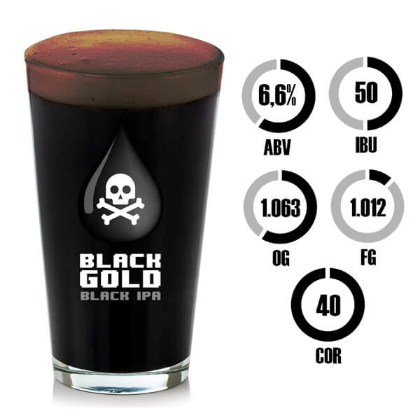 Kit Receita Cerveja Black Gold Black IPA
