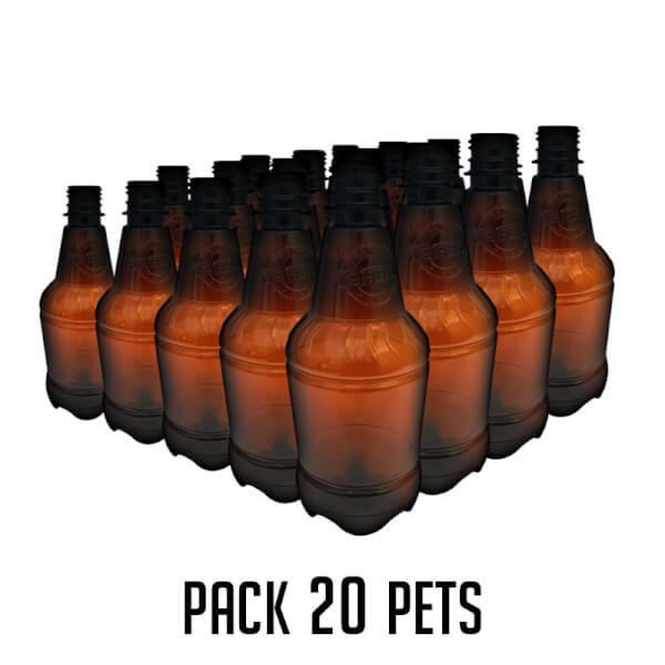 Garrafa PET 500ml – Pack 20 unid