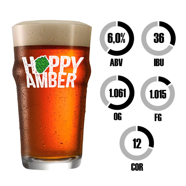 Kit Receita Cerveja Fácil Hoppy Amber Ale