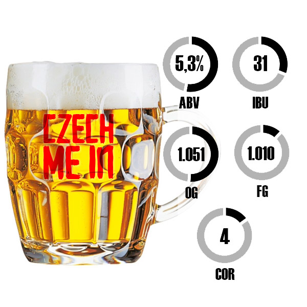 Kit Receita Cerveja Fácil Czech Me In Bohemian Pilsner